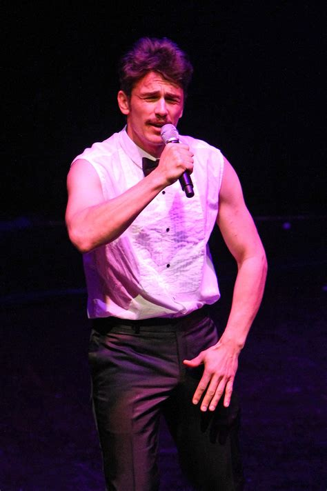 Pictures of James Franco Performing on Stage in NYC 2010