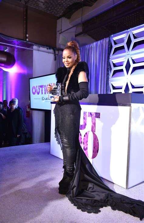 Janet Jackson honoured at the OUT100 Gala in New York