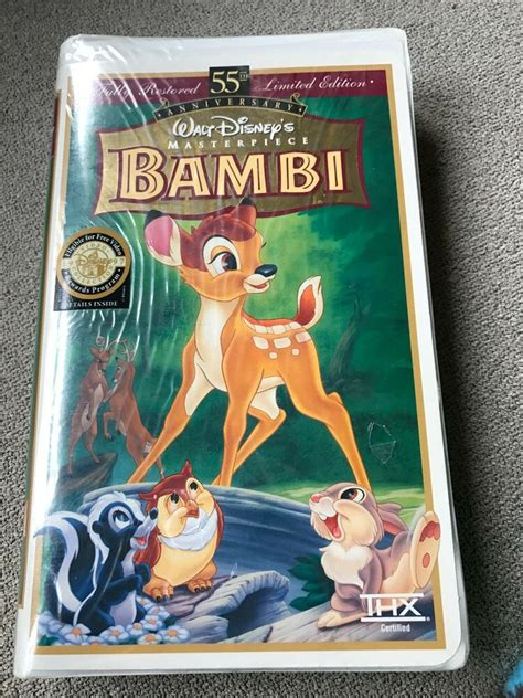 Bambi 55th Anniversary Limited Edition VHS Factory Sealed