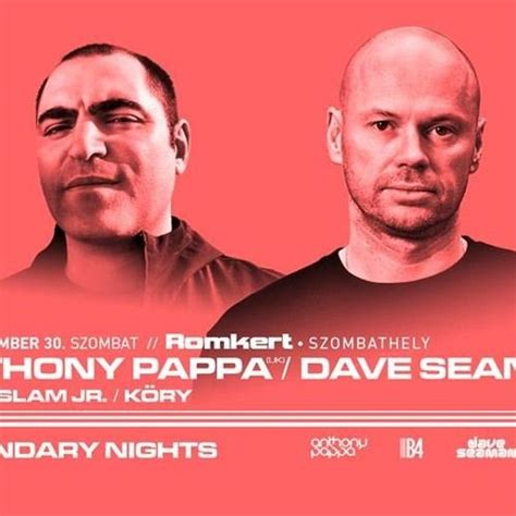 Live Mix From Selador Honcho Dave Seaman & Anthony Pappa