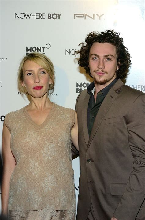 Pictures of Aaron Johnson and Sam Taylor-Wood at Nowhere