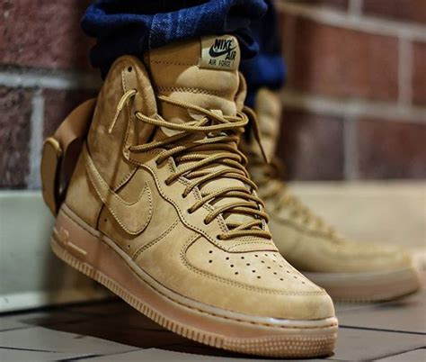 Nike Air Force 1 High 07 LV8 Suede Flax Wheat | Sneakers-actus